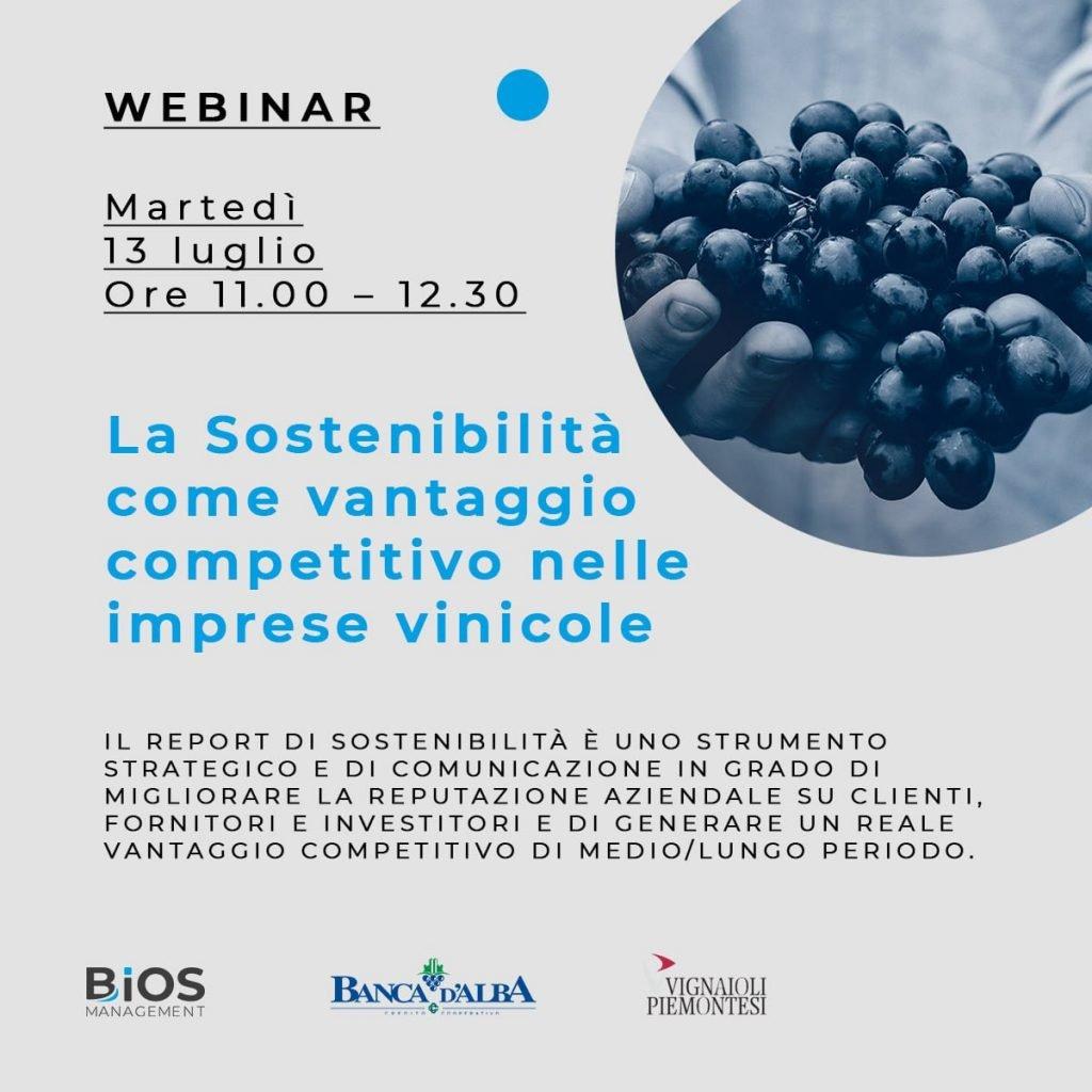 Webinar sul report di sostenibilità martedì 13 Luglio ore 11 – 12.30